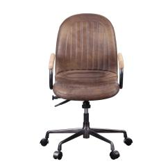 Vintage Office Chairs Amazon Outdoor Acme Furniture Acis Chocolate Top Grain Leather Executive Chair
