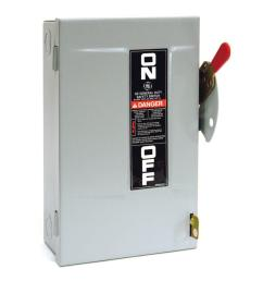 ge 30 amp 240 volt non fuse indoor safety switch [ 1000 x 1000 Pixel ]