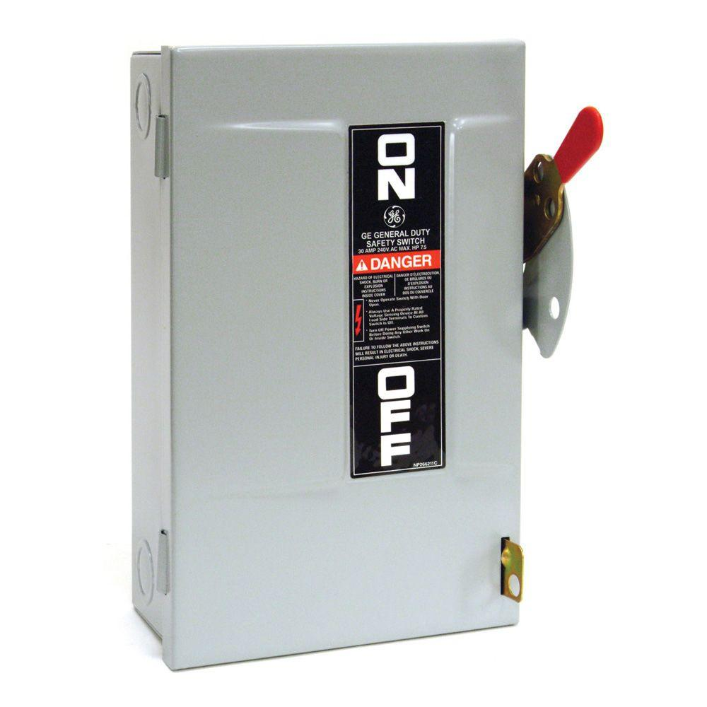 medium resolution of ge 30 amp 240 volt non fuse indoor safety switch