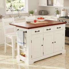 Island Kitchen Cool Gadgets Islands Carts Utility Tables The Home Depot Country Large In White Finish With Vintage Oak Top
