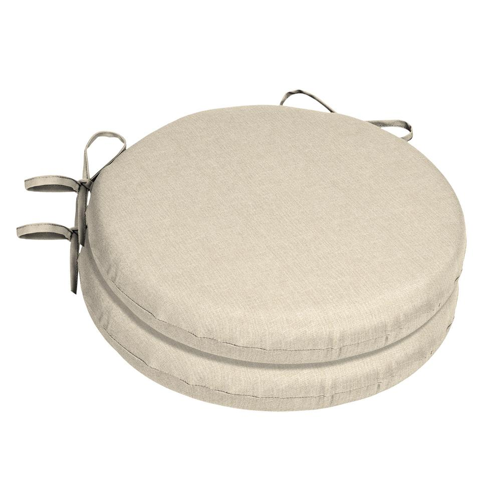 home decorators collection 15 x 15 sunbrella canvas flax round outdoor chair cushion 2 pack ah1p460b d9d2 the home depot