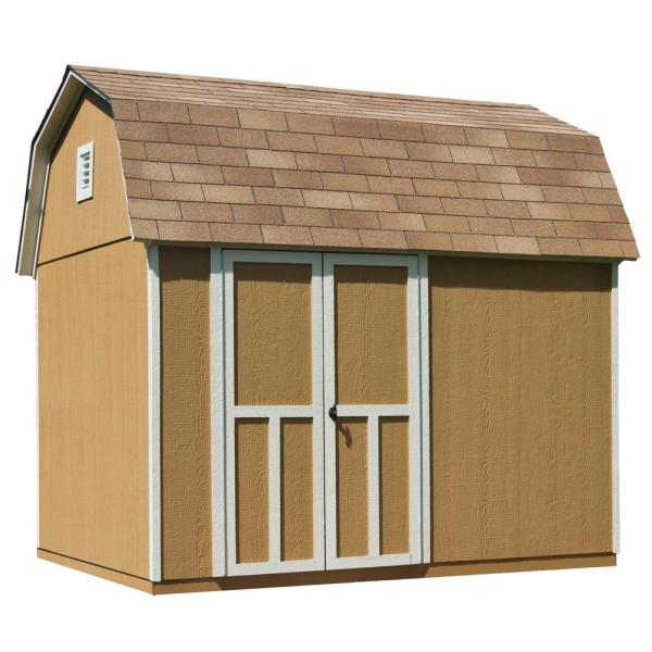 Handy Home Products Installed Montana 8 Ft. X 10 Wood Storage Shed With Black Onyx Shingles