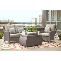 Hampton Bay Beverly 4-piece Patio Deep Seating Set With