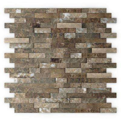 home depot backsplash tiles for kitchen 36 sink tile backsplashes the bengal brown 11 77 in x 57 8 mm stone self adhesive