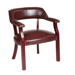 Brown Office Guest Chairs Used Eames Chair Work Smart Jamestown Oxblood Vinyl Tv230
