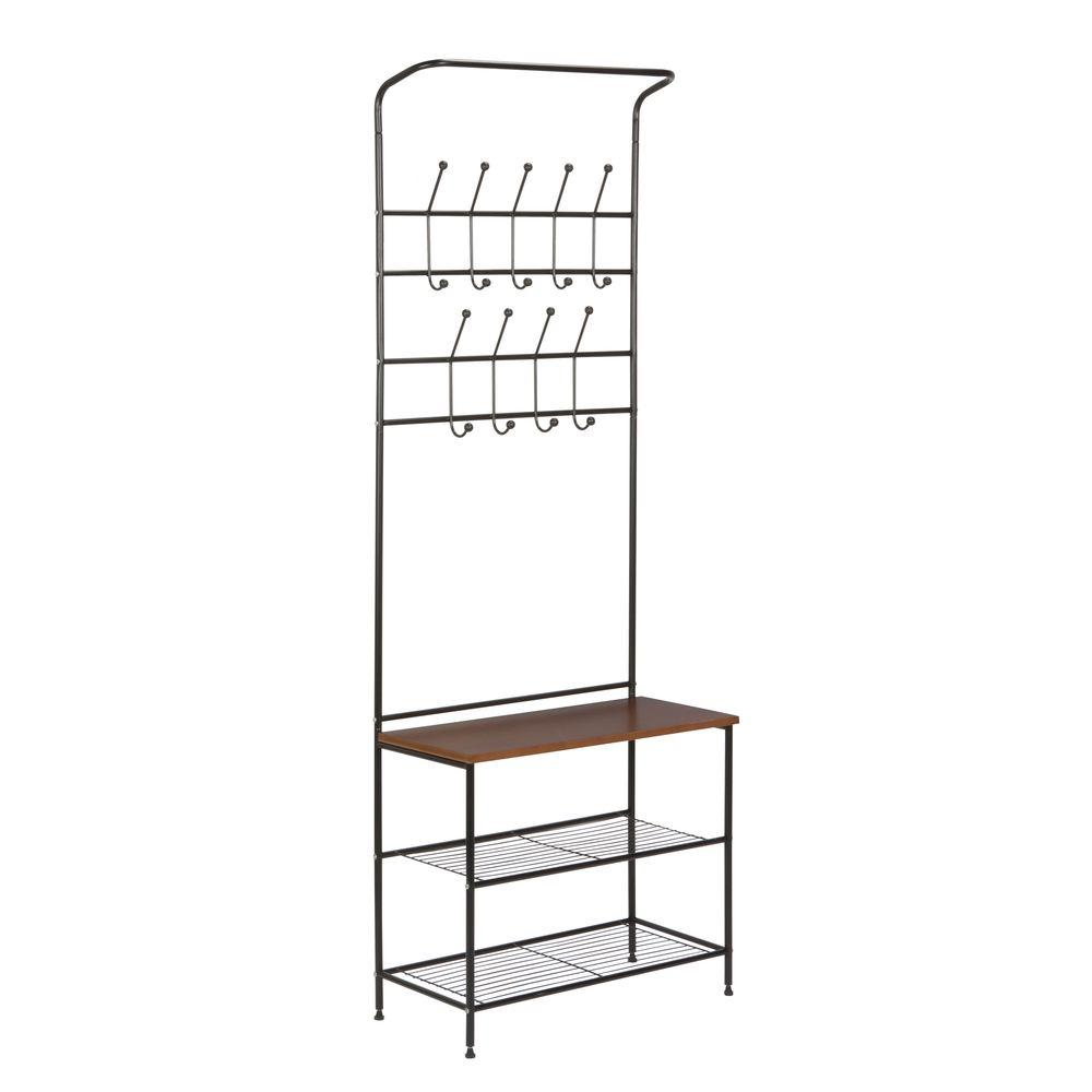 Honey-Can-Do 18-Hook Steel Freestanding Storage Valet in
