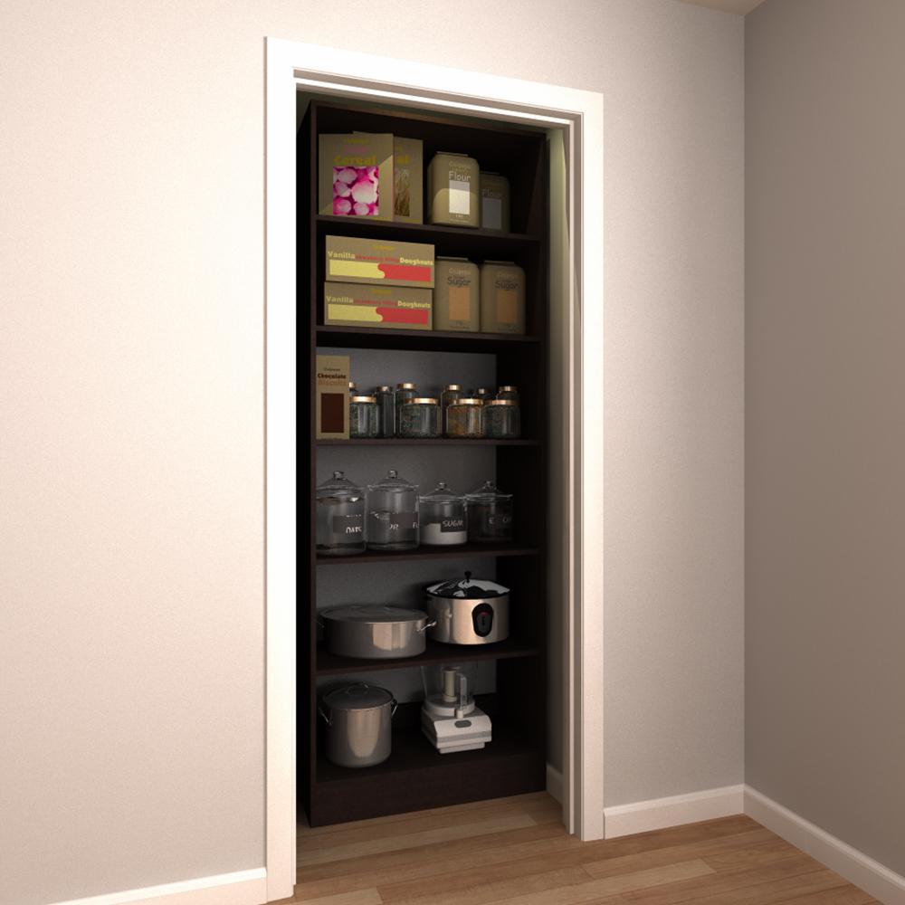 kitchen pantry organizer wrought iron pendant lights organizers storage organization the home depot 30 in w x 15 d 84 h mocha wood