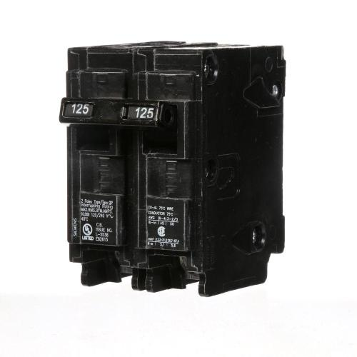 small resolution of siemens 125 amp double pole type qp circuit breaker