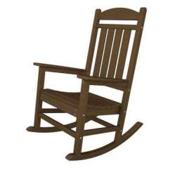 Hard Plastic Outdoor Rocking Chairs Wedding Chair Cover Hire Medway Patio The Home Depot Presidential Teak Rocker