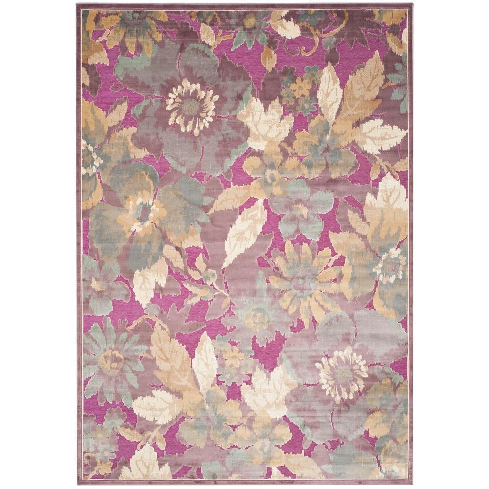 Safavieh Paradise PurpleFuchsia 8 ft x 11 ft 2 in Area RugPAR1488808  The Home Depot