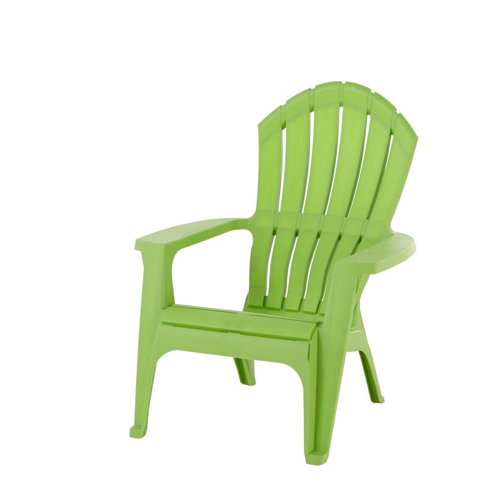 RealComfort Lime Plastic Adirondack Chair8371974303