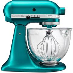 Kitchen Aid 5 Qt Mixer Hanging Utensils In Kitchenaid Artisan Designer Sea Glass Stand Ksm155gbsa