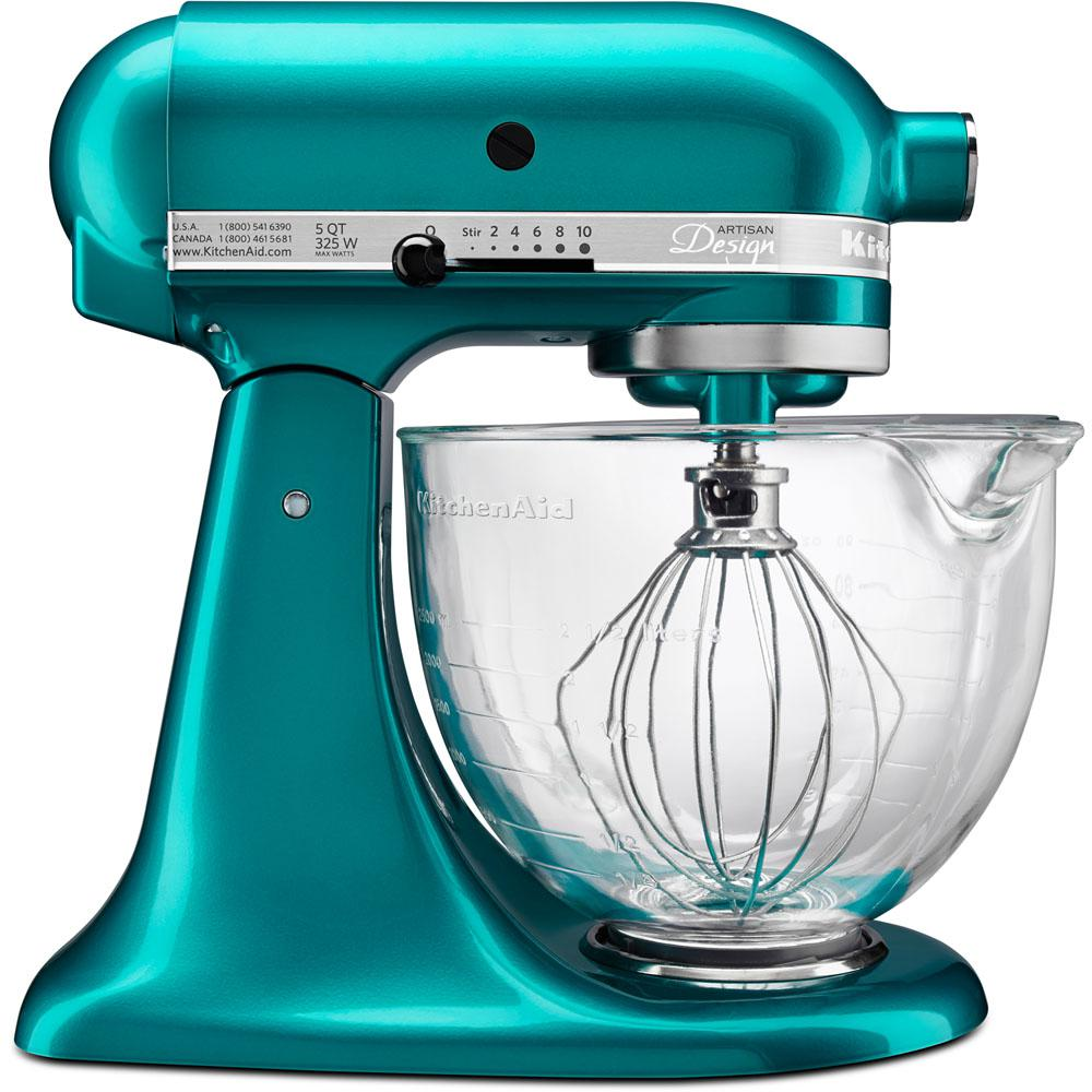 kitchen aid colors the honest perfect form kitchenaid artisan designer 5 qt sea glass stand mixer ksm155gbsa
