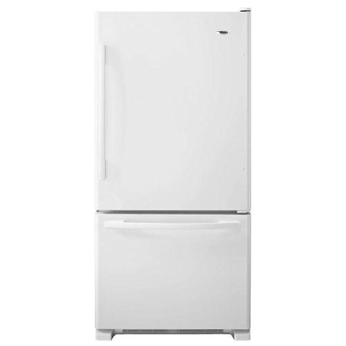small resolution of amana 22 cu ft bottom freezer refrigerator in white