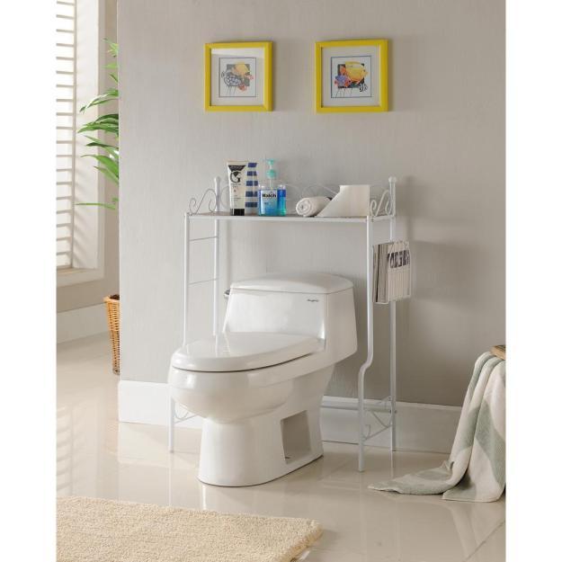 kings brand furniture white freestanding etagere bathroom shelf