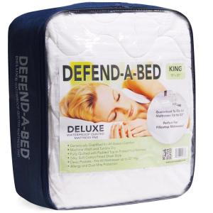 Deluxe Full Size Quilted Waterproof Mattress Pad And Protector