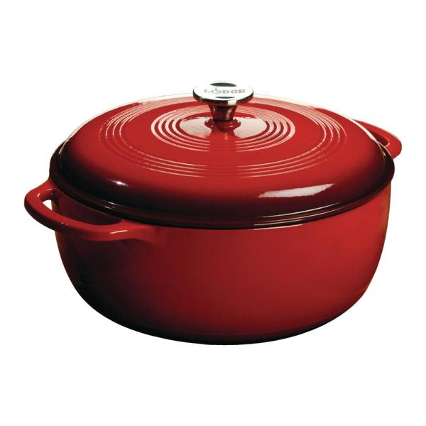Lodge 7.5 Qt. Enamel Cast Iron Dutch Oven-ec7d43 - Home Depot
