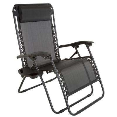 recliner lawn chairs folding best gaming chair for big guys reclining patio the home depot oversized zero gravity in black