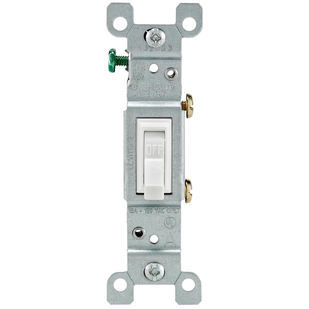 medium resolution of leviton 15 amp single pole toggle light switch white r52 01451 02w 15 amp single pole 2 toggle switches with back and side wiring light