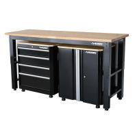 Husky 42 in. H x 72 in. W x 24 in. D Steel Garage Cabinet ...