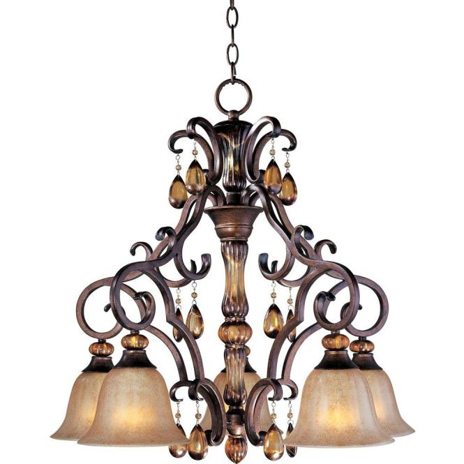 Maxim Lighting Dresden Down Light Chandelier 22264emfl The Home Depot