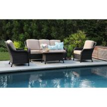Hampton Bay Beverly 5-piece Patio Sectional Seating Set