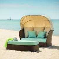 Hampton Bay Deerfield All-Weather Wicker Patio Day Bed ...