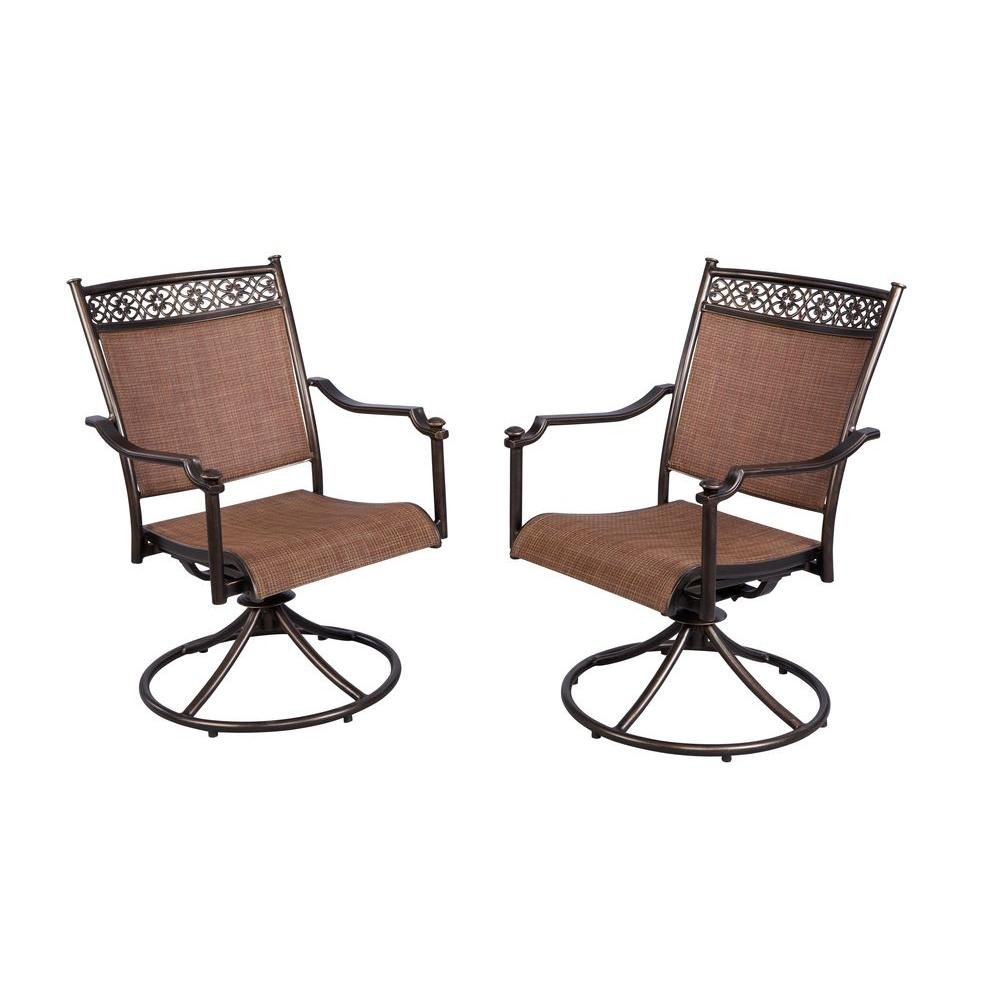 swivel rocker outdoor dining chairs sturdy camping chair hampton bay niles park sling patio rockers 2 pack s2