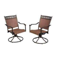 Revolving Easy Chair American Doll Wheelchair Outdoor Dining Chairs Patio The Home Depot Niles Park Sling Swivel
