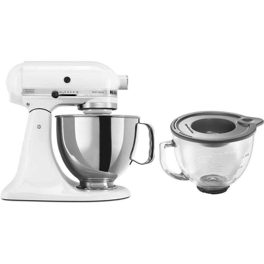 white kitchen aid barbie playset kitchenaid artisan 5 qt stand mixer ksm150pswh 3 kit the