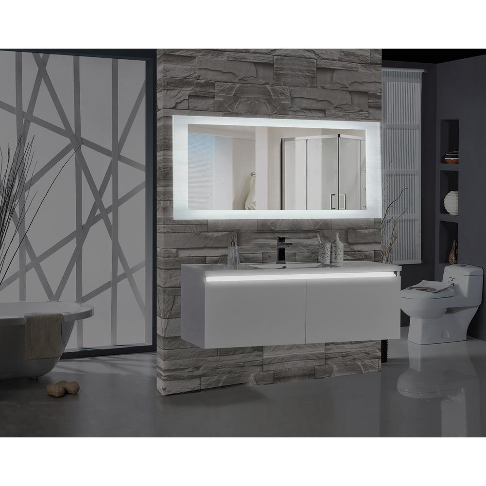 Illuminated Bathroom Mirror Encore 70 In W X 27 In H Rectangular Led Illuminated Bathroom Mirror