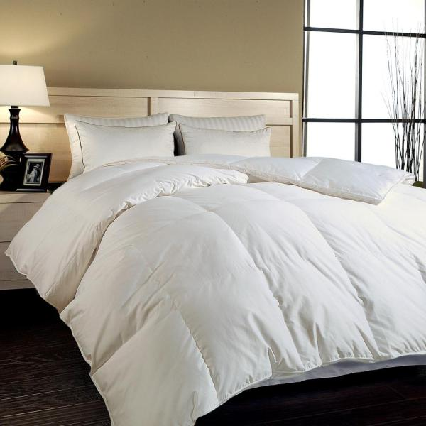 Blue Ridge Hungarian White Goose King Comforter-018003 - Home Depot
