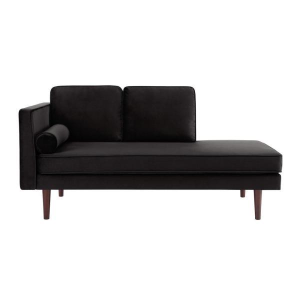 Dhp Nico Mid-century Black Velvet Modern Upholstered