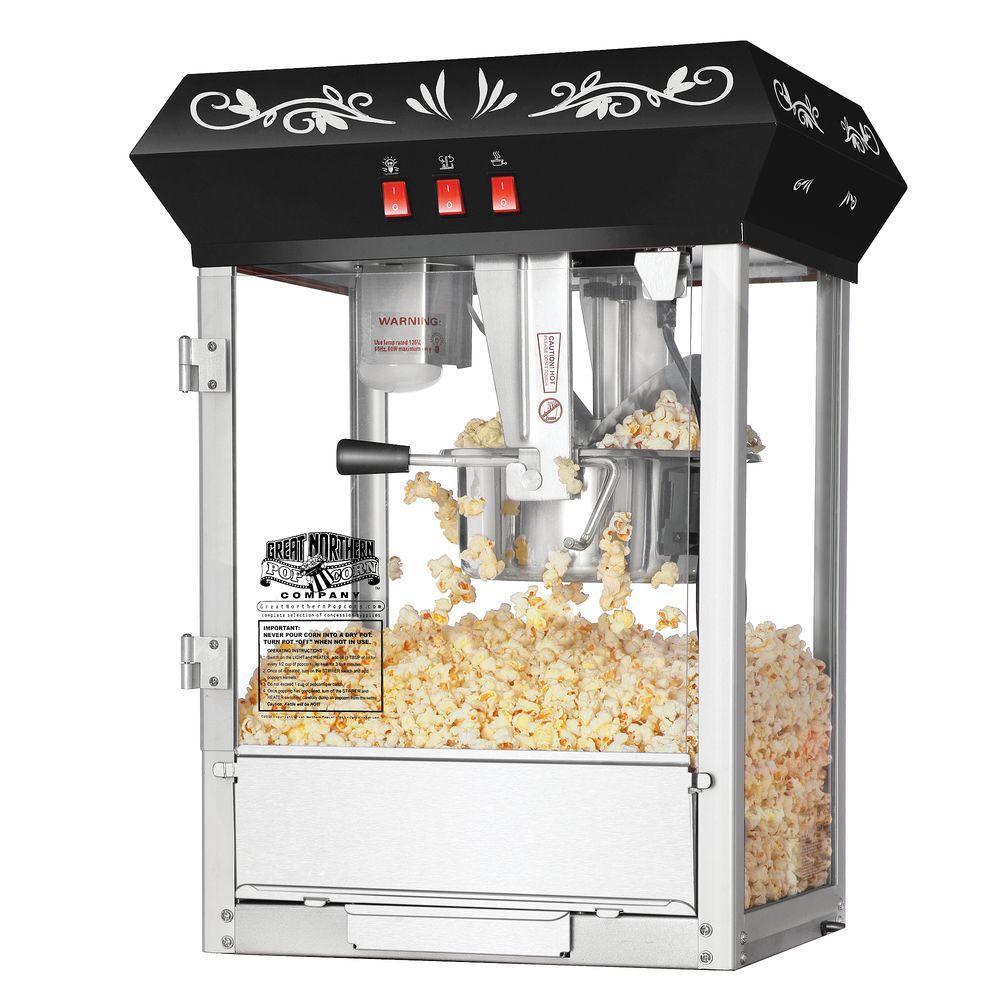 hight resolution of black countertop popcorn machine 6099 the home depot