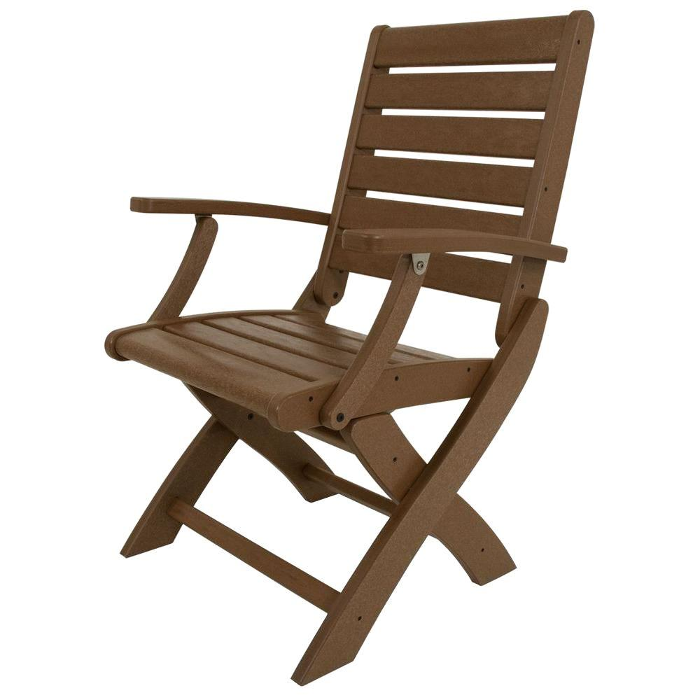 Patio Folding Chairs Polywood Signature Teak Patio Folding Chair
