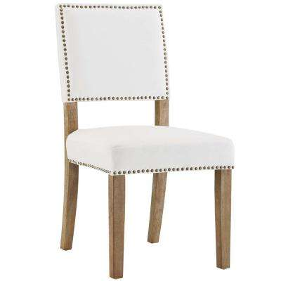 white fabric dining chairs revolving chair ikea modway kitchen room oblige ivory wood