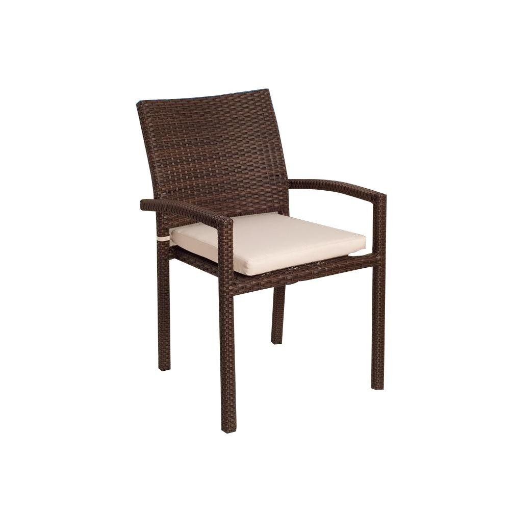 liberty dining chairs target chair covers atlantic contemporary lifestyle brown patio armchair set with off white cushions 4