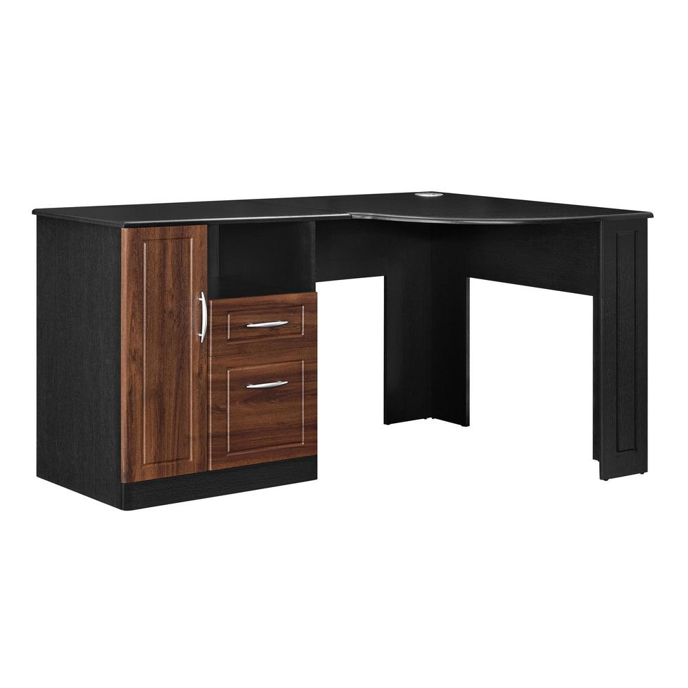 Ameriwood Home Wilson Black Computer Desk with Storage