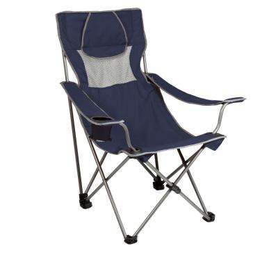 home depot camping chairs plastic lawn walmart best rated furniture the campsite folding camp navy and grey patio chair