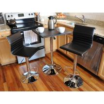 Amerihome Retro Style Bar Table Set In Black With