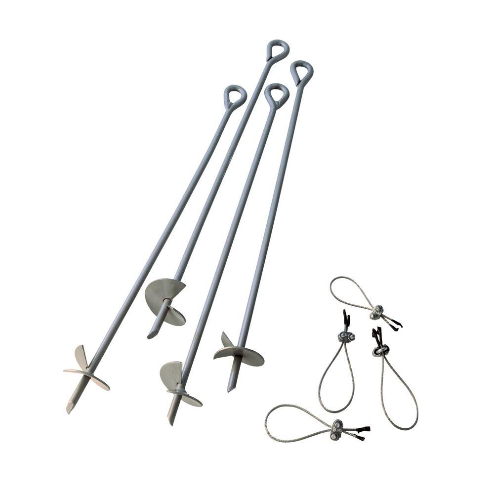 ShelterLogic 30 in. Earth Anchors Set (4-Piece)-10075