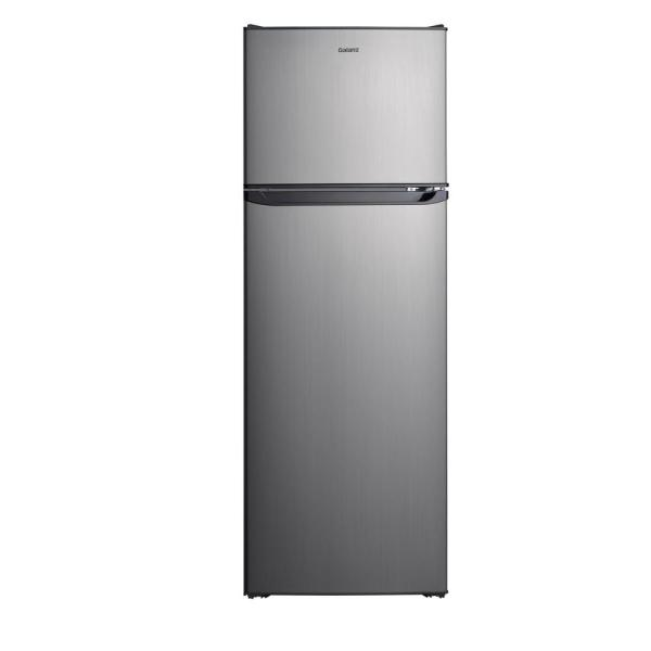Galanz 12.0 Cu. Ft. Top Freezer Refrigerator With Dual Door Frost Free In Stainless Steel