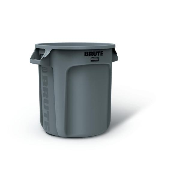 Rubbermaid Commercial Products Brute 10 Gal. Trash Lid-2025245 - Home Depot