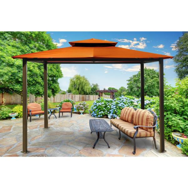 Paragon Gazebo 10 Ft. X 12 With Rust Top-gz584er - Home Depot