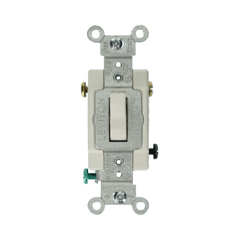 4 way switch with dimmer wiring diagram pajero alternator light switches devices controls the home depot 15 amp commercial grade 3 lighted handle toggle white