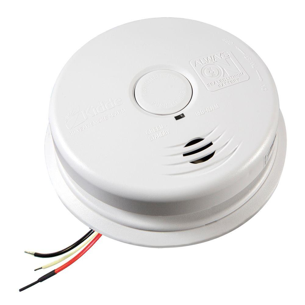 hight resolution of kidde worry free hardwire smoke detector with 10 year battery backup