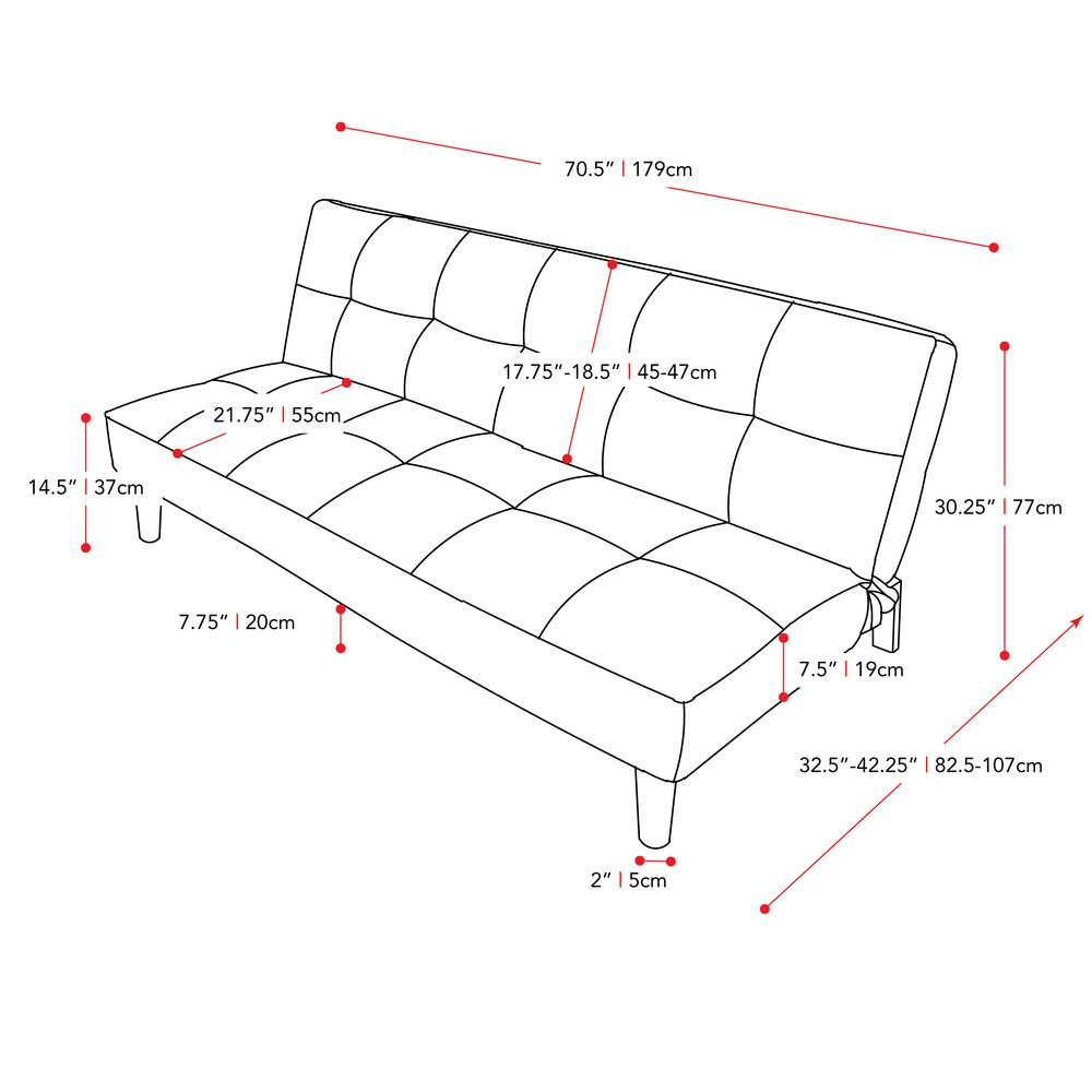 hight resolution of corliving yorkton dark grey convertible futon sofa bed with textured futon frame diagram of a futon beds