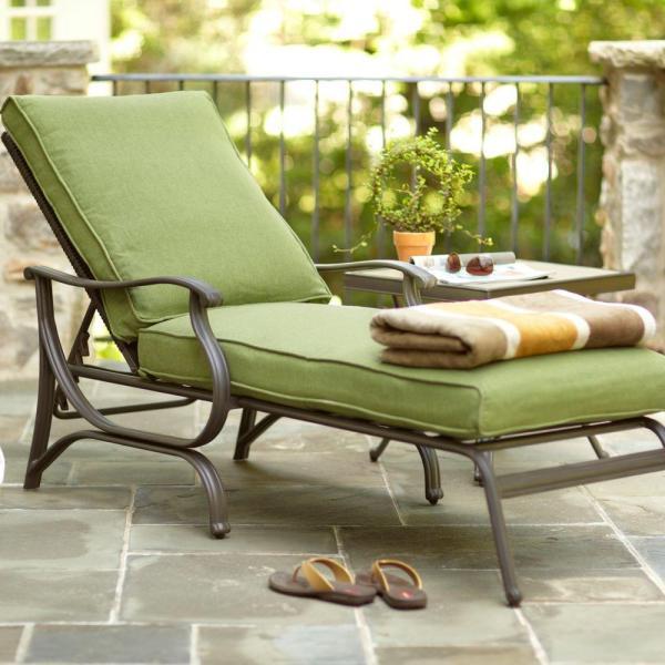 Hampton Bay Patio Chaise Lounge Cushions