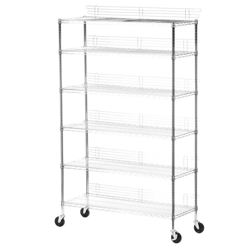Honey-Can-Do 6-Shelf 72 in. H x 48 in. W x 18 in. D