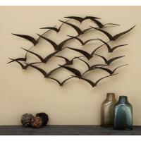 In Flight 47 in. Flock of Birds Metal Wall Sculpture